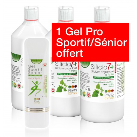 3 Silicia7+ & 1 Gel Sportif Sénior offert