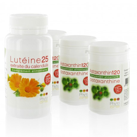 Pack 1 Lutéine25 + 3 Astaxanthin120