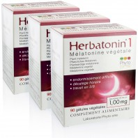 3 Herbatonin 1 (1,00 mg) - Mélatonine végétale (DLUO : 05/2021)