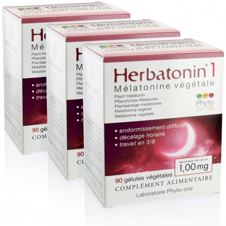 3 Herbatonin 1 (1,00 mg) - Mélatonine végétale