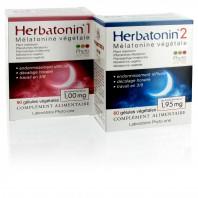 Mélatonine végétale : 1 x Herbatonin 1 + 1 x Herbatonin 2 (DLUO : 05/2021)