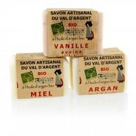 Pack de 3 Savons artisanaux Bio