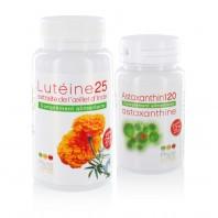 Pack 1 Lutéine25 + 1 Astaxanthin120