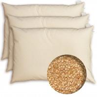 3 x 1 Oreiller cervical à la Balle de Millet BIO - Housse coton BIO - Depuis 1994 + Echantillon Mélatonine Végétale