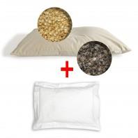 Oreiller cervical Bio Bicouche Billy + Taie : Millet/Épeautre, Millet/Sarrasin