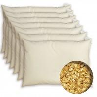 7 x 1 Oreiller cervical à l'épeautre BIO - Housse coton BIO - Depuis 1994