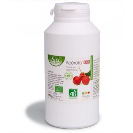 Acérola 1000 Bio - 120 comprimés