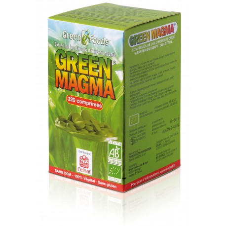 Green Magma 320 cp (Extrait jus d'orge vert Bio)